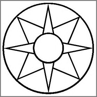 8-Pt Star in Wheel