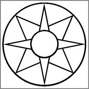8-Pt Star in Wheel