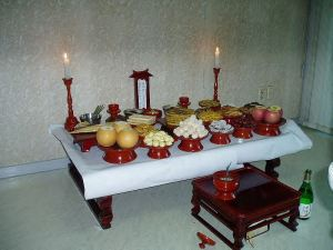 Korean Jesa Altar