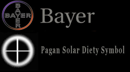 Bayer Logo & Pagan Solar Diety Symbol