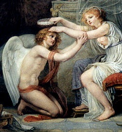 Psyche Crowning Cupid : Jean-Baptiste Greuze