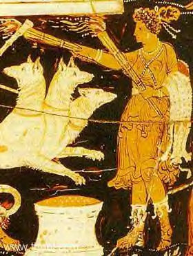 Goddess With Torch : Ancient Depiction