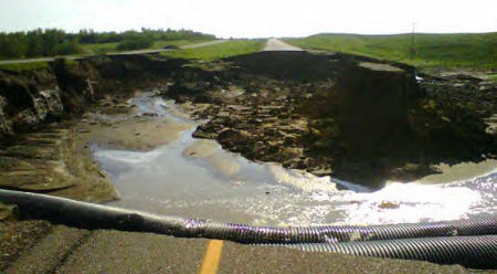 Sinkhole Trans-Canada Highway