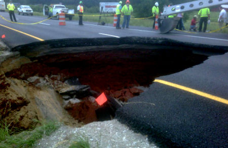 Sinkhole Chattanooga Tennessee