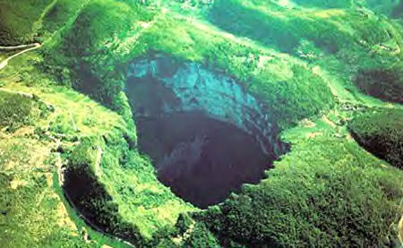 Sinkhole China