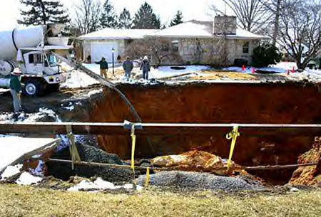 Sinkhole Derry Pennsylvania