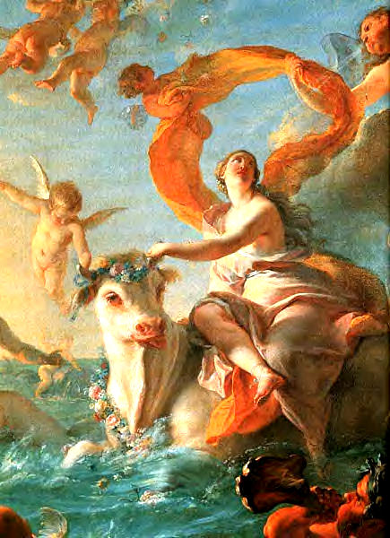 Abduction of Europa : Noël-Nicolas Coypel