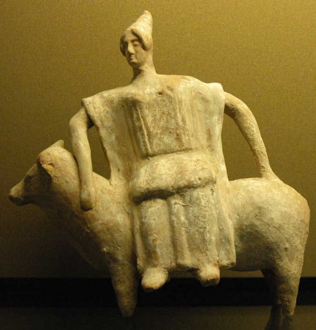 Terracotta figurine from Boeotia, ca. 470 BC–450 BC.