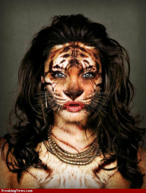 Tiger Lady Chimera : freakingnews.com