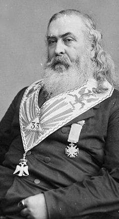 Albert Pike portrait masonic