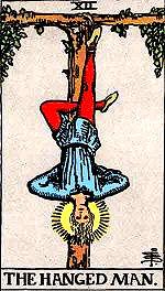 """Hanged Man"" Tarot Card"
