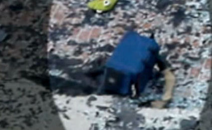 BS Team - There is a black mark beneath bag.