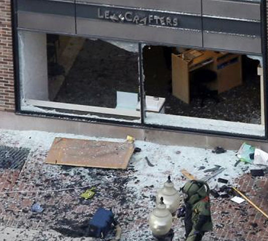 Pulverized Glass or Undetonated Explosives